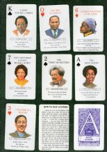 Collectible playing cards and cards game Black authors by Whitehal
